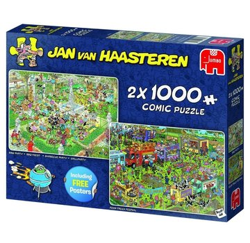 Jumbo Jan van Haasteren – Food Festival Puzzel 2x 1000 Stukjes