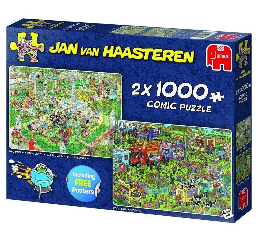 Jan van Haasteren – Food Festival Puzzel 2x 1000 Stukjes