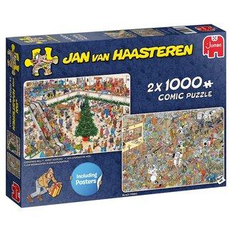 Jan van Haasteren Jan van Haasteren - achats de Noël 2x 1000 Pièces Puzzle