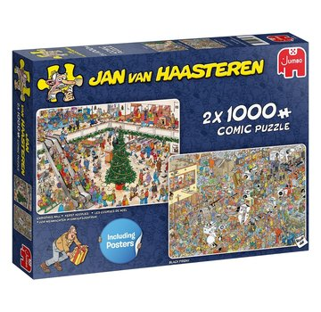 Jumbo Jan van Haasteren – Christmas Mall Puzzle 2x 1000 Pieces
