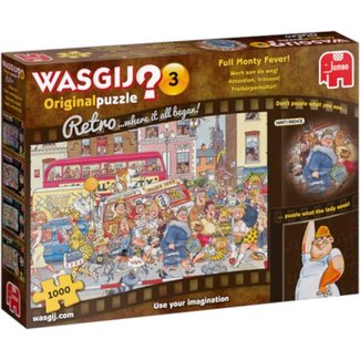 Jumbo Wasgij 3 Retro Work on Highway 1000 Puzzle pieces