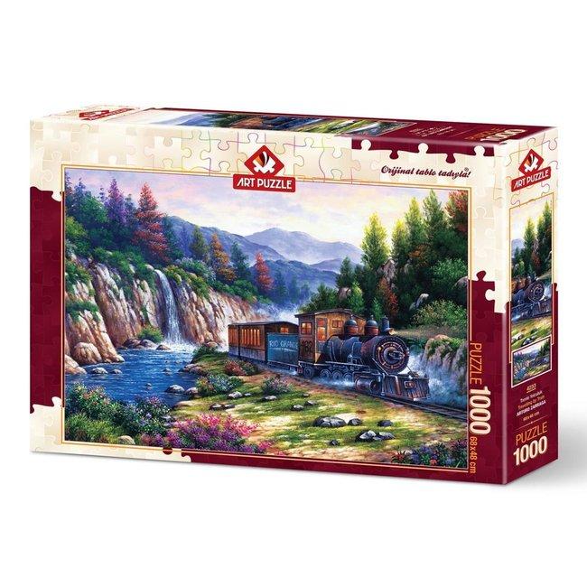 Art Puzzle Travelling by Train Puzzel 1000 Stukjes