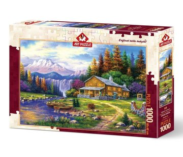 Art Puzzle Sunset in the Mountains Puzzel 1000 Stukjes