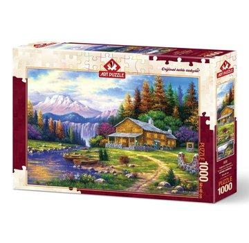 Art Puzzle Coucher de soleil dans les montagnes 1000 Puzzle Pieces
