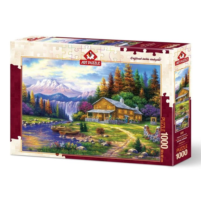 Art Puzzle Sonnenuntergang in den Bergen 1000 Puzzleteile