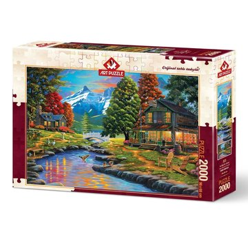 Art Puzzle Deux côtés en 2000 une Pièces Puzzle Forêt