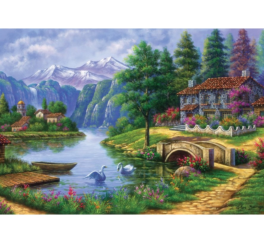 Lake Village Puzzel 1500 stukjes