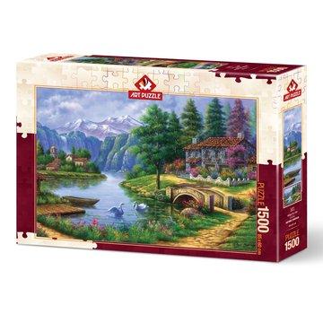 Art Puzzle Lake Village Puzzle 1500 pièces