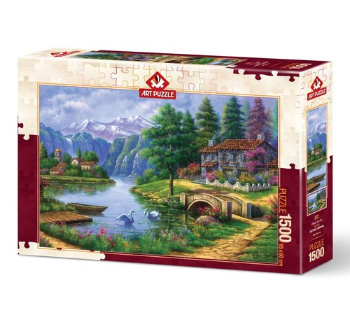 Art Puzzle Lake Village Puzzel 1500 stukjes