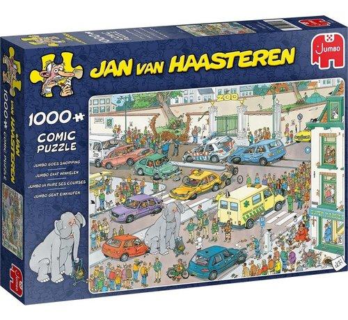 Jumbo Jan van Haasteren - Jumbo Goes Shopping 1000 Puzzle Pieces