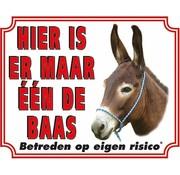 Stickerkoning Ezel Waakbord - Maar een de Baas