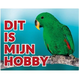 Stickerkoning Green Eclectus Watch Panel - This is my Hobby