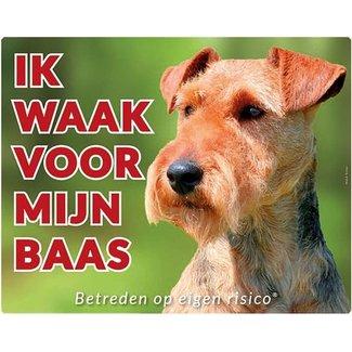 Stickerkoning Welsh Terrier Wake board - I watch my boss