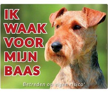 Stickerkoning Welsh Terrier Wake board - Ich beobachte meinen Chef