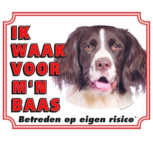Stickerkoning Drentsche Patrijshond Waakbord - Ik waak voor mijn Baas