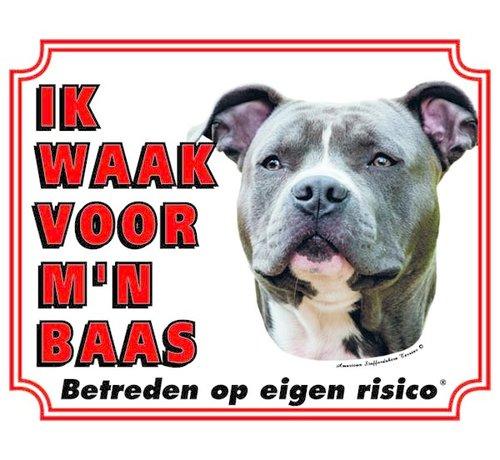 Stickerkoning American Staffordshire Terrier Wake board - Je regarde mon patron