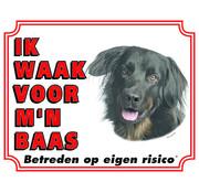 Stickerkoning Hovawart Wake board - I watch my boss