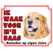 Stickerkoning Hovawart Wake Board Blonde - I watch my boss