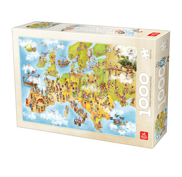 Deico Cartoon Map of Europe Puzzel 1000 Stukjes