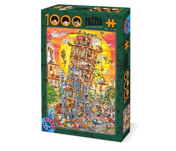 Dtoys Tower of Pisa 1000 Cartoon Puzzle Pieces