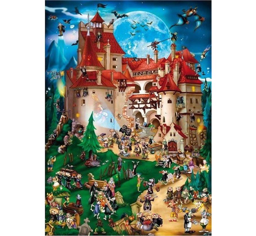 Cartoon Vampier Party Puzzel 1000 Stukjes