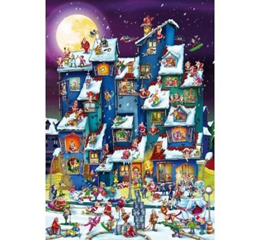 Cartoon Kerst Bende Puzzel 1000 Stukjes