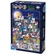 Dtoys Cartoon Kerst Bende Puzzel 1000 Stukjes
