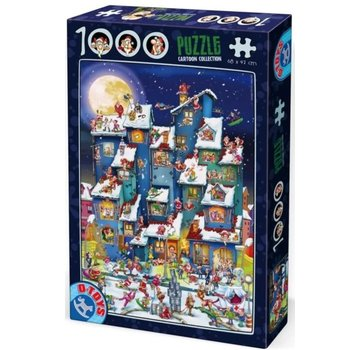 Dtoys Cartoon Gang Christmas 1000 Puzzle Pieces