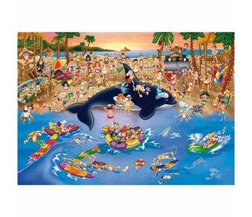Dtoys Cartoon Strand Drukte Puzzel 1000 Stukjes
