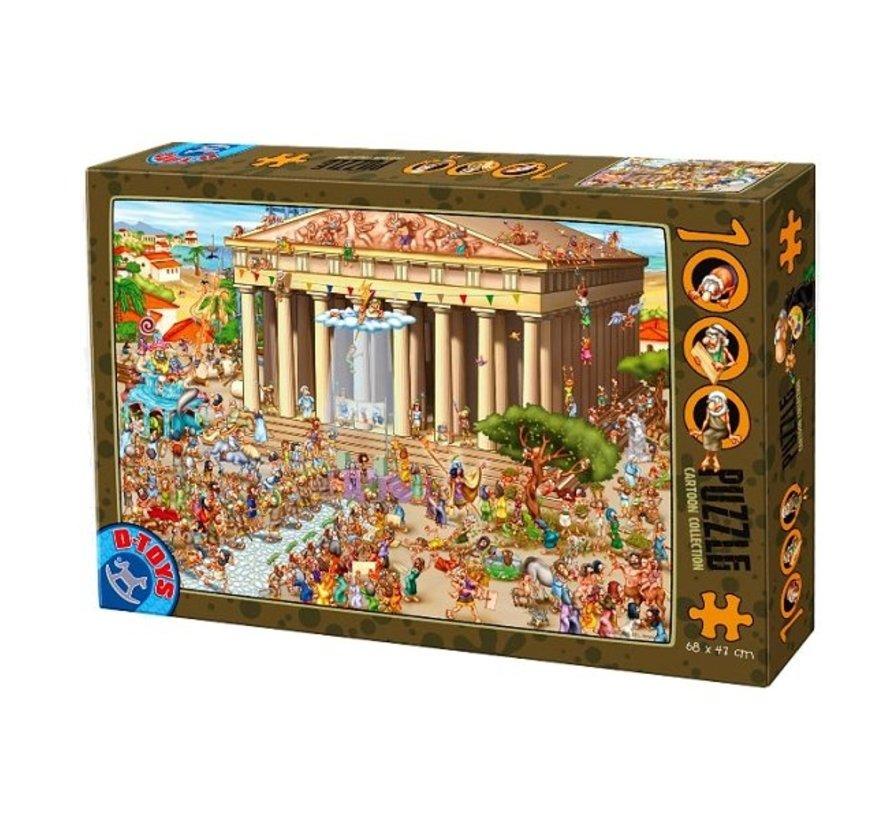 Cartoon Acropolis  Puzzel 1000 Stukjes