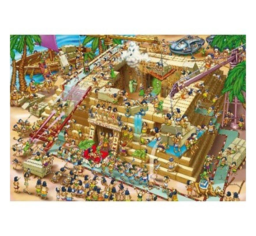 Cartoon Pyramide Bouwen Puzzel 1000 Stukjes