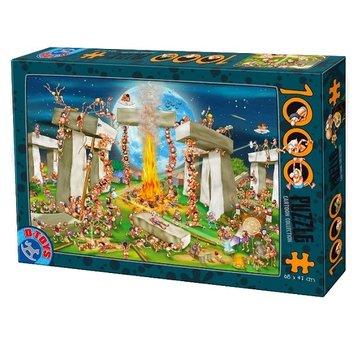 Dtoys Cartoon Stonehenge Puzzel 1000 Stukjes