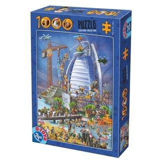 Dtoys Cartoon Burj Al Arab Puzzel 1000 Stukjes