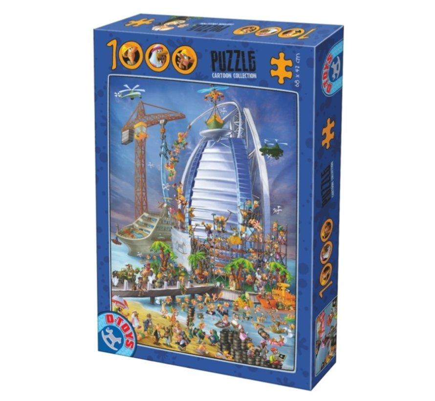 Cartoon Burj Al Arab Puzzel 1000 Stukjes