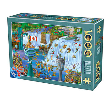 Dtoys Cartoon Niagara Falls Puzzel 1000 Stukjes