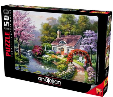 Anatolian Spring Cottage In Full Bloom 1500 Puzzle Pieces