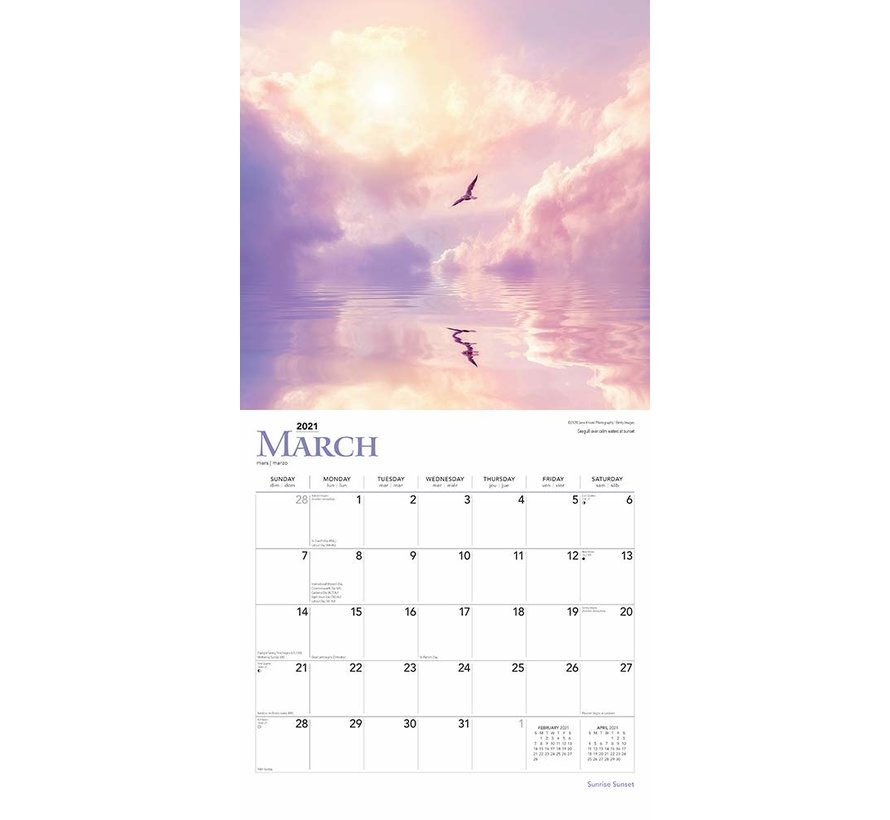 Sunrise Sunset Kalender 2021