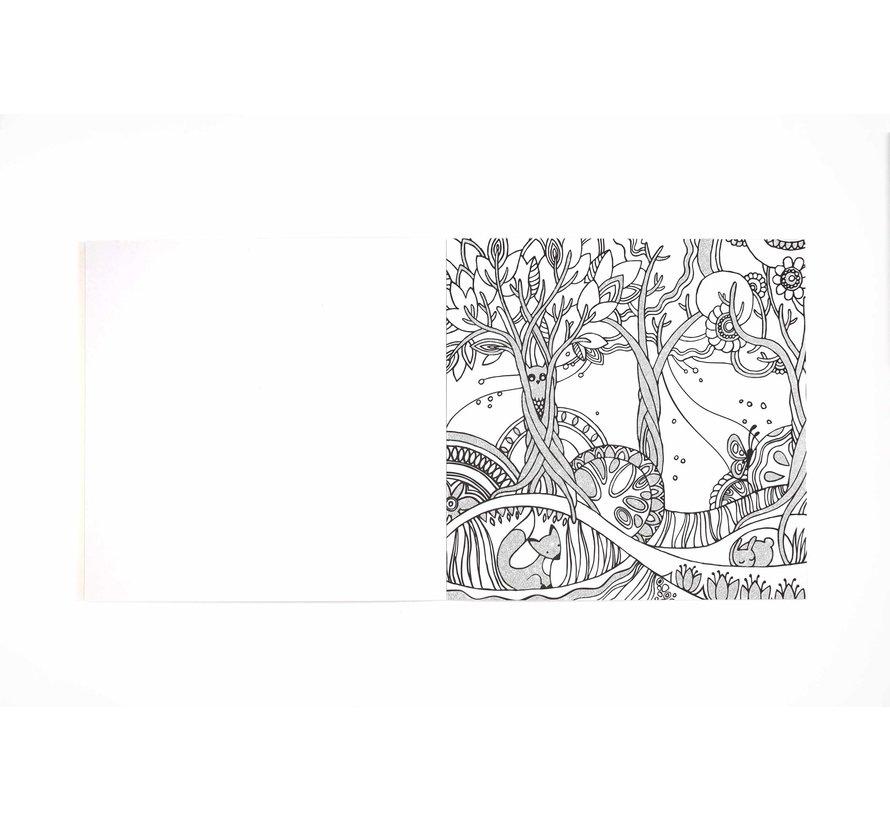 Forest Glitter Kleurplatenboek