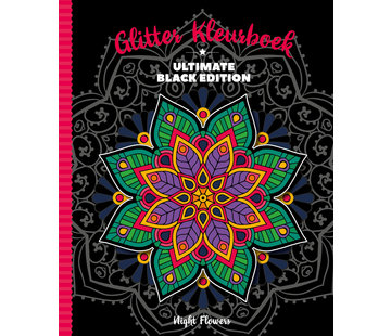 Inter-Stat Night Flowers Glitter Kleurboek