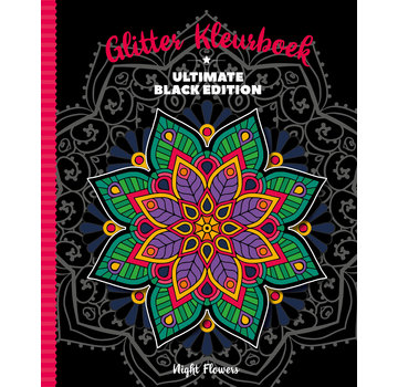 Inter-Stat Night Glitter Flowers Coloring Book