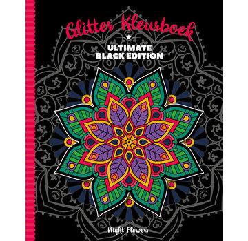Inter-Stat Nuit Glitter Fleurs Coloring Book