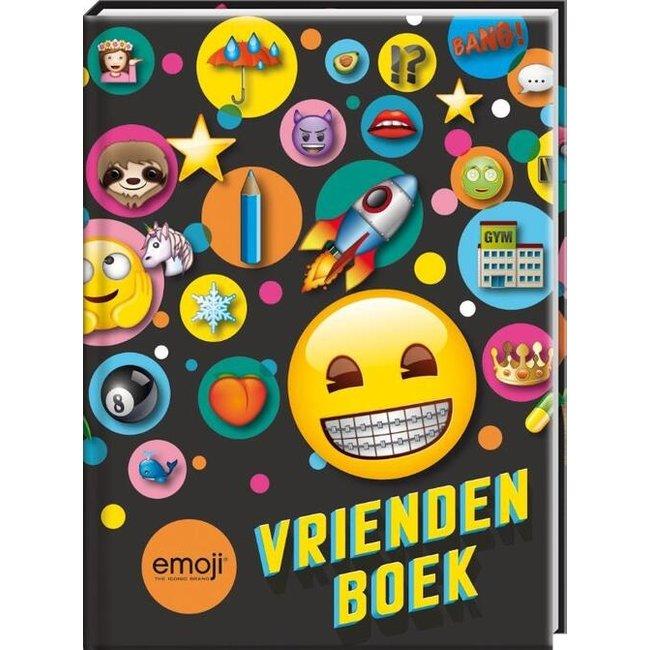 Emoji Vriendenboekje Zwart