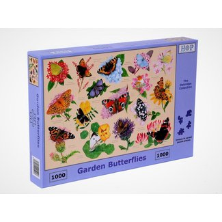 The House of Puzzles Garden Butterflies 1000 Puzzle Pieces