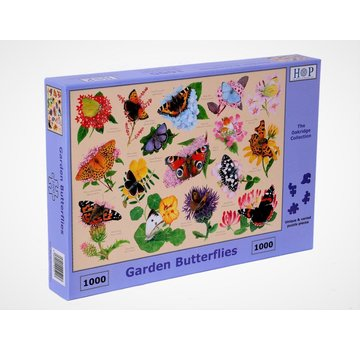 The House of Puzzles Jardin Papillons 1000 Puzzle Pieces