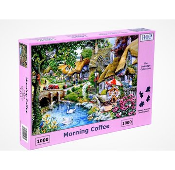 The House of Puzzles Morning Coffee 1000 Puzzle Pieces