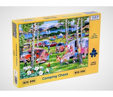 The House of Puzzles Camping Chaos Puzzel 500 XL Stukjes