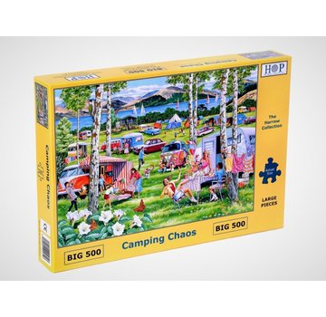 The House of Puzzles Camping Chaos XL 500 Puzzle Pieces