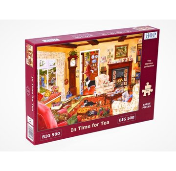 The House of Puzzles In Time for Tea 500 XL Puzzle Pieces