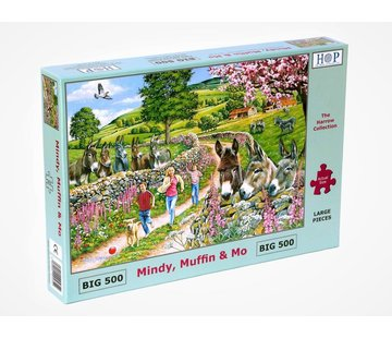 The House of Puzzles Mindy, Muffin & Mo Puzzel 500 XL Stukjes