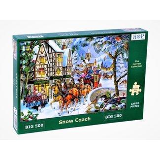 The House of Puzzles Snow Coach Puzzel 500 XL Stukjes